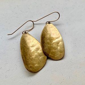 Jewelry - Beautiful hammered brass petal earrings